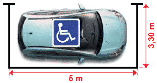 dimensions parking handicapé