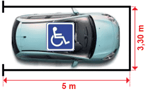 dimensions parking pmr