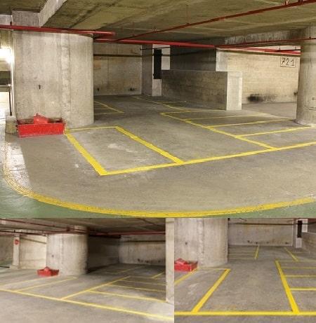 Division parking pour mettre des deux roues