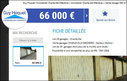 Annonces garages à vendre sur Charleville-Mézières