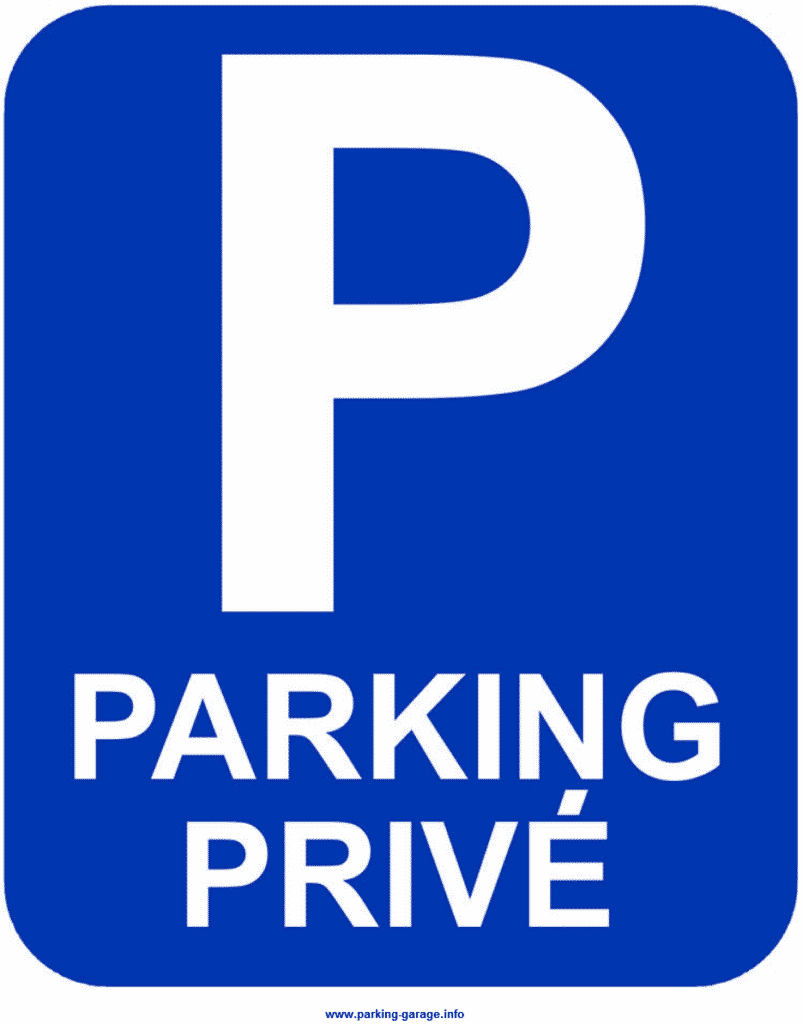 panneau signaletique parking prive