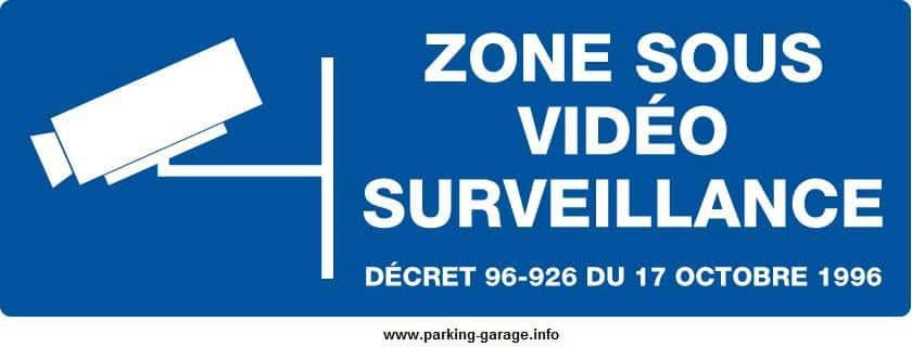 panneau signaletique videosurveillance