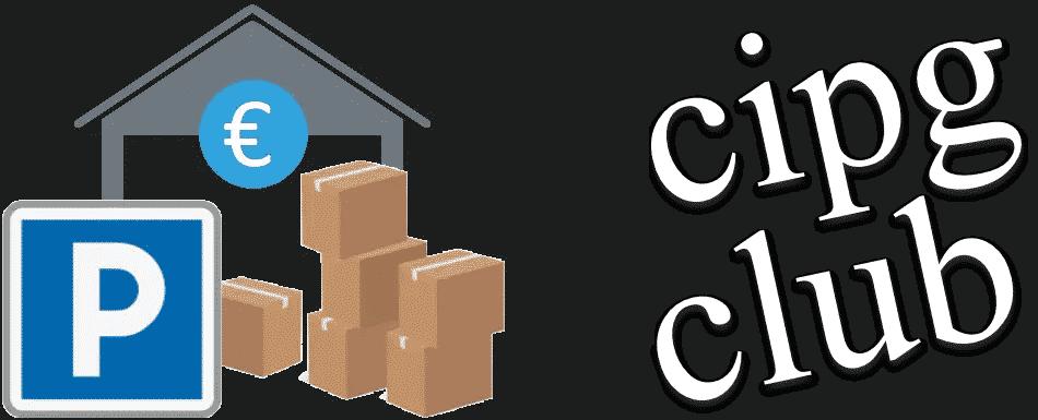 Logo cipg club sur fond noir