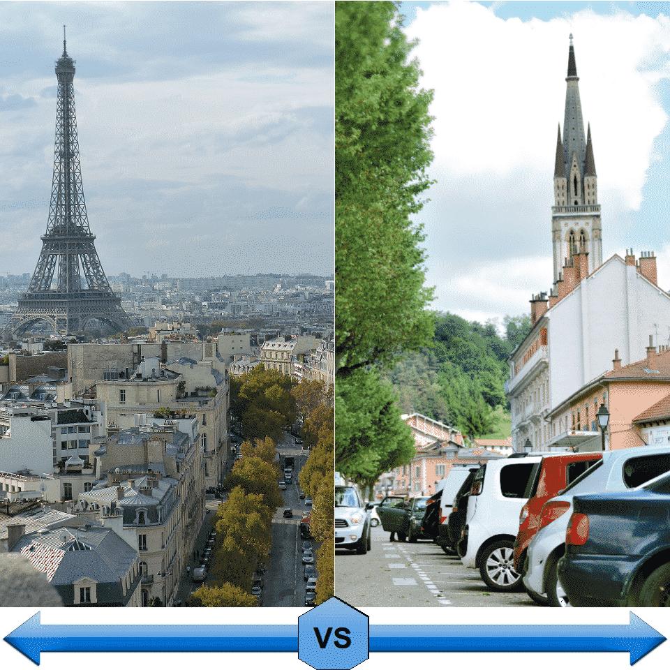 Paris vs Province