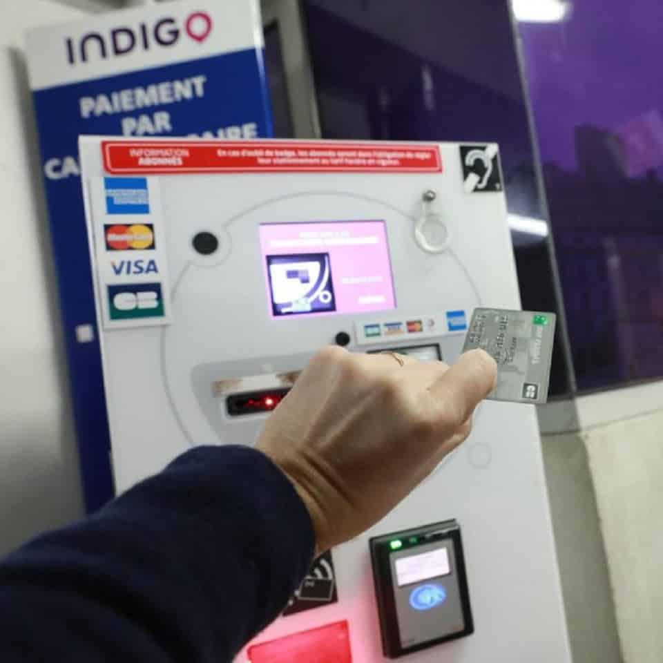 Caisse parking Indigo à Paris