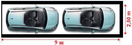 dimensions d'un garage double en enfilade