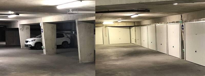 transformation parking box avant apres